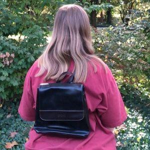 Vintage 1990s Faux Vegan Leather Mini Backpack